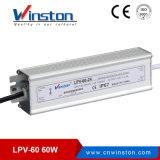 Lpv-60 시리즈는 단 하나 출력 전력 공급 SMPS를 방수 처리한다
