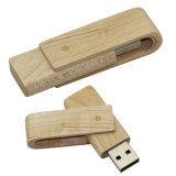 Swivel Wooden USB Flash Drive Eco USB Stick Logo Gift