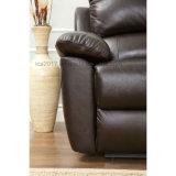 上穀物の革横たわるソファー、Loveseatおよび肘掛け椅子セット