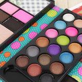 18 sombras de ojo de los colores + 2 se ruborizan + polvo presionado + el labio 3 congelado + 2 conjuntos profesionales Es0325 del maquillaje de la ceja