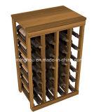 24 aménagements en bois de vin de crémaillère de mémoire de vin de crémaillère de vin de bouteille