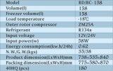 Congélateur congélateur à énergie solaire 158L 12V / 24V DC Compresseur