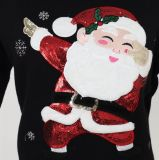 電気刺繍およびビードの刺繍のLadeisのセーターおよびアクリルの品質柔らかいHandfeelのクリスマスのギフト