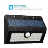 Solarlicht-im Freienbeleuchtung-drahtloses wasserdichtes Bewegungs-Fühler-Wand-Licht des garten-20LED