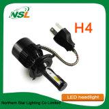 Phare prêt à l'emploi du faisceau H13 Hb3 Hb4 DEL de double de noir de phare de véhicule de H4 DEL