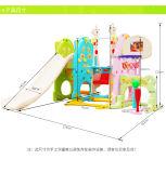 Игрушки скольжения и качания Wuality Ce высокие пластичные с обручем футбола и баскетбола (HBS17028C)