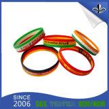 10 anos de fulgor Eco-Friendly dos Wristbands do silicone no bracelete escuro de Slicone