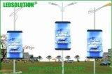 Straßenlaterne-Pole-Plakat LED-Bildschirmanzeige im FreienbekanntmachensP6