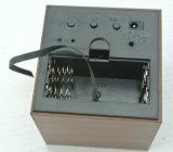 디지털 LED 통제되는 소리를 가진 목제 입방체 시계
