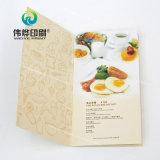 Impression de couleur faite sur commande de brochure de menu de restaurant, meilleure offre et meilleur service