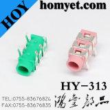 3.5mm 6 pines de audio estéreo jack Jack colorido DIP teléfono (HY-313B-YE)