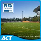Fibra resiliente 2017 di gioco del calcio della FIFA dell'erba di auto artificiale del fornitore