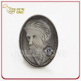 3D moeda de prata antiga principal, moeda feita sob encomenda do metal