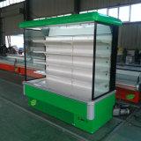녹색 상업적인 낙농장 음료 야채 냉장고 진열장