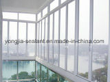 Aluminiumseite gehangen/Flügelfenster-Fenster mit Aluminiumrahmen