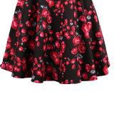 Retro Kleidungs-Fabrik eine Zeile dünne Blumenkleider niedriges MOQ
