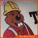Tela de sentido único da visão para o indicador