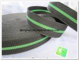 450d黒い緑のポリプロピレンのウェビング