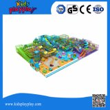 Grandes equipamentos de playground coberto para centro de reprodução