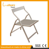 Patio-Garten-Möbel gesetzte Testilene faltende Aluminiumgaststätte, die Stuhl für Verkauf speist