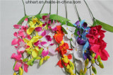 최신 판매 집 훈장 Cattleya를 위한 인공적인 Cattleya 난초가 장식적인 인공 꽃 Cattleya 난초에 의하여 장식 집으로 돌아온다