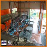 Máquina negra usada de la regeneración del aceite de motor con la certificación del Ce
