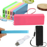 2600mAh Li-Polymer Battery Perfume Thin Keychain Carregador portátil Power Bank