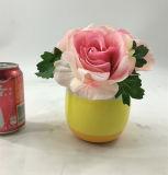 Bonsai di ceramica Colourful della decorazione dei fiori artificiali