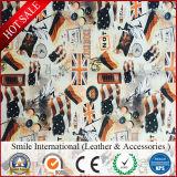 Искусственная кожа PVC кожаный Fanny печатание способа для Hangbags