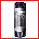 Panoramischer Aufzug mit HaarstrichEdelstahl-Steuerkasten