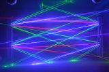 luz da aranha do laser da cor cheia de 4000MW RGB