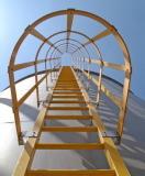 冷却塔および機械のためのFRPのケージの梯子