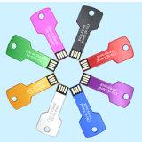 2018 대중적인 선물 키 모양 자유로운 Laser 인쇄 로고 USB 섬광 드라이브 (YS)