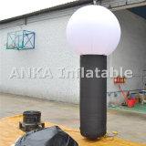 LED allumée piliers gonflables pour la publicité imprimée