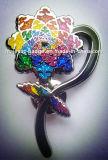 Значок эмали цветка яркия блеска трудный (Hz 1001 B042)