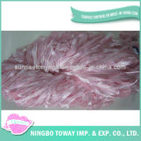 Chapéu de inverno de malhas de poliéster de tecelagem de fios de fantasia de algodão