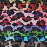 Couro 2017 impresso PVC colorido para o saco decorativo (W199)