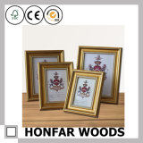 Frame de madeira da foto do retrato do ouro real do estilo para a decoração Home