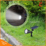 Imperméable Extérieur Solar Power Spotlight solaire de jardin pelouse Lampe de sécurité Lampe Paysage Lumière