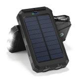 côté mobile solaire imperméable à l'eau portatif de pouvoir du côté 2 USB du pouvoir 8000mAh