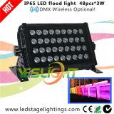 세륨, RoHS 증명서를 가진 옥외 LED 세척 빛 48PCS*3W RGB LEDs