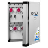 24 Keys Storage Cabinet Portable Solid Steel Safe Case