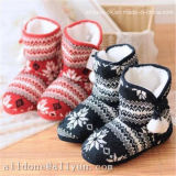 Calças confortáveis ​​Ladies Women's Winter Knitted Indoor Boots Shoes