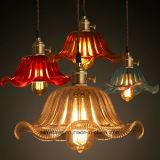 Moderne sechs Farben für hängende Lampe mit Glasfarbton-Innenbeleuchtung