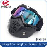 Máscara de motocross de motocross com óculos removíveis e filtro de boca para capacetes modulares de moto