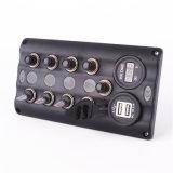 El panel impermeable del interruptor de eje de balancín del aluminio LED con el socket de potencia