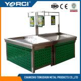 Metalldoppeltes Plattform-Obst- und GemüseRegal