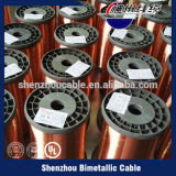 Fio de alumínio folheado de cobre esmaltado classe do CCA do fio de 155 Thermal para o enrolamento do motor