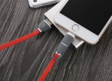 Cable del cargador del USB para el iPhone androide, 2 retractables en 1 cable de carga del USB