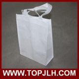 Sac d'emballage pliable non tissé blanc de sublimation de blanc